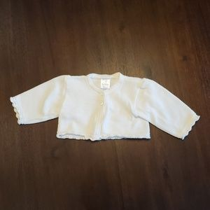 Off white baby sweater shrug size 6 months